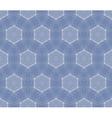 Seamless decorative blue wallpaper vector image