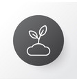sprout icon symbol premium quality isolated plant vector image