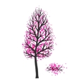 Background with spring tree of vector image