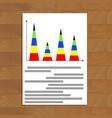 vertical pyramidal statistics graph vector image