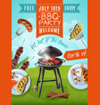 barbecue party poster vector image