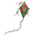 Colorful kite vector image