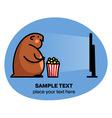 Fat hamster watching tv vector image