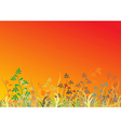 autumn grass vector image