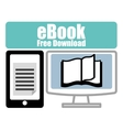 Book and e-learning icons design vector image