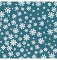 Snowflakes seamless pattern Snowflake background vector image