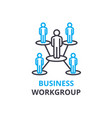 business workgroup concept outline icon linear vector image