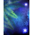Christmas tree on a blue background vector image