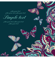 colorful card with a decorative pattern vector image
