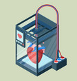 Creating artificial heart on three dimensional vector image