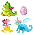Dino set vector image