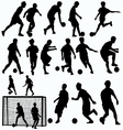 futsal players silhouettes vector image