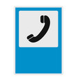 handset icon flat style vector image