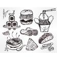 international food menu set vector image