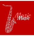 Saxophone made up of musical notes vector image