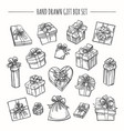 sketch outline present boxes set vector image