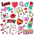 Fashion Love Badges Set with Patches Stickers vector image