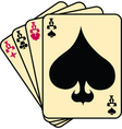 Set of aces vector image vector image