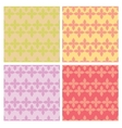 Set of decorative abstract seamless patterns vector image