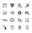 big data icons set seo concept vector image