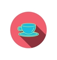 Coffee cup icon Tea or hot drink sign vector image