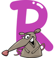 R for rat vector image vector image