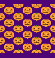 halloween pumpkin seamless pattern scary vector image