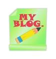 My Blog vector image