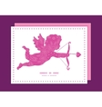pink abstract flowers texture shooting cupid vector image