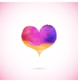 Pink painted heart vector image