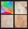 Polygon banner set vector image