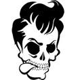 Pompadour Skull vector image
