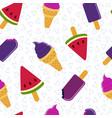summer ice cream fun seamless pattern design vector image