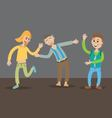 teenagers dancing at party vector image