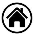 Home symbol button vector image