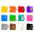 primary colors educational set vector image