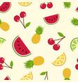 summer tropical fruit seamless pattern art vector image