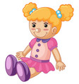 baby doll with happy face vector image
