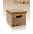 Christmas carboard box vector image