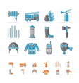 fire-brigade and fireman equipment icon vector image vector image