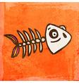 Fish Skeleton Cartoon vector image