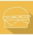 hamburger icon symbol with long shadow vector image