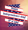 4th of july Independence day ribbon background for vector image vector image