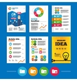 Accounting binders icons Add document symbol vector image