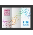 chemistry background vector image