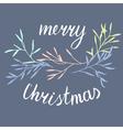 Christmas simple postcard vector image