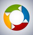 Circle web design element vector image