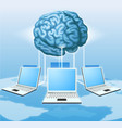 computer brain computing concept vector image
