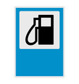 gas station icon flat style vector image