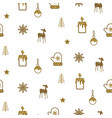 gold and white new year simple icon holiday vector image
